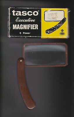Vintage 1969 Tasco Executive Magnifier Magnifying Glass with Original Box