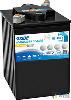 ES1100-6 Exide Equipment Marine and Multifit Gel Versorgerbatterie 200Ah