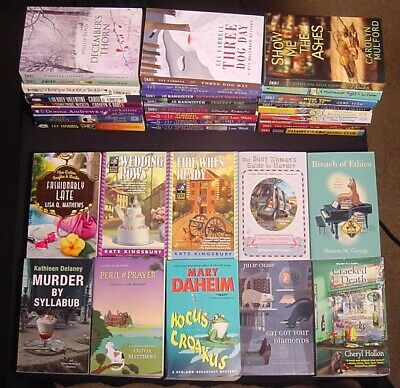 Lot 34 Cozy Mystery PB~Carolyn Hart~Donna Andrews~Lea Wait~Jo Bannister+~VGC