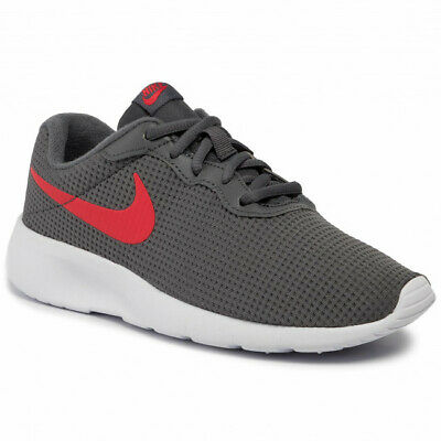 online store ff96d f2ab2 Nike Tanjun Kids Running Sneakers Gray+Red Athletic Shoes Youth 818382-020