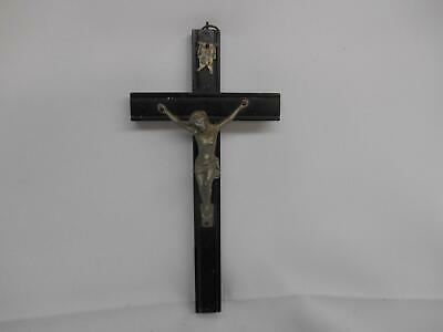 Old Vtg RELIGIOUS WOOD CRUCIFIX CROSS JESUS CHRIST INRI Wall Hanging