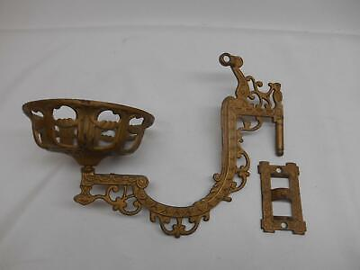 VICTORIAN CAST IRON OIL LAMP SCONCE SWING ARM BRACKET Architectural Salvage Old