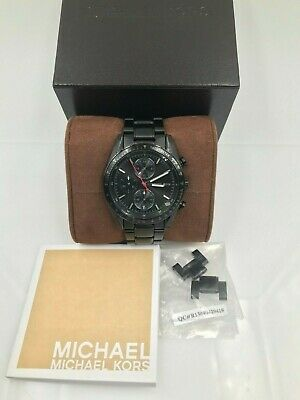 Michael Kors Accelerator MK-8386 Chronograph Black Ion Stainless Steel Watch