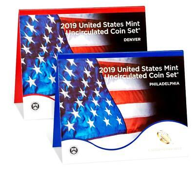 **FROM US MINT > 2019-D & P Uncirculated (2x10) Coin Sets w/COA & Extras