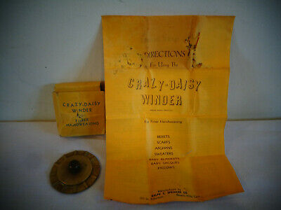 Vintage Crazy Daisy Winder For Finer Handweaving W/Instructions & Box