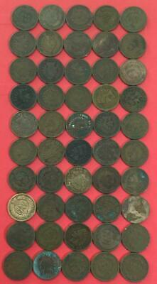 Rough Indians Old US Coins 1800s-1900s US Indian Head Cents Set of 25 assorted