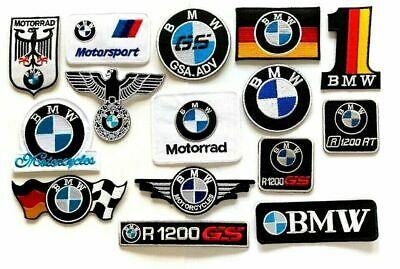 BMW Super Racing Car Brands Embroidered Iron/Sew on Patch Badge Motorcycle