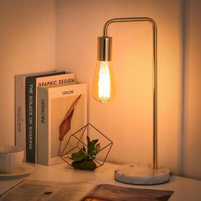 Table Office Lamp with Marble Base and Metal Frame Stylish Gold Simple Vintage