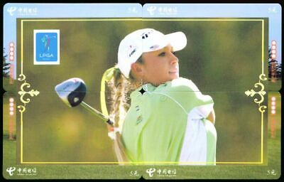 Natalie Gulbis Hot Lpga 2010 Four Golf Card Puzzle Set Si Swimsuit Body Paint