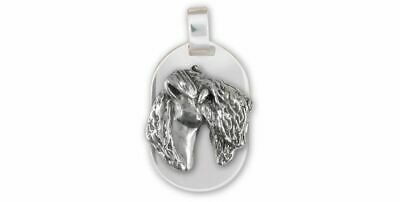 Kerry Blue Terrier Jewelry Sterling Silver Handmade Kerry Blue Terrier Pendant