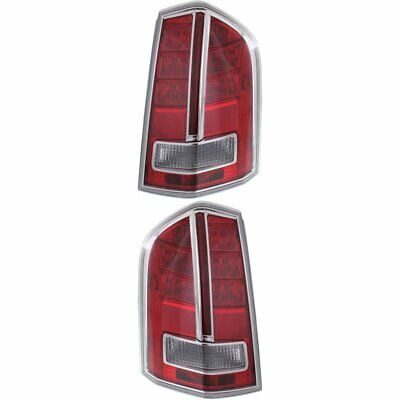 CH2819135, CH2818135 Right+Left Side New Set of 2 Tail Lights Lamps LH & RH Pair