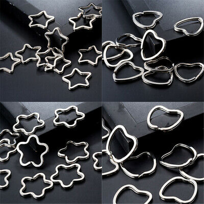 Wholesale 10 pcs Silver Tone Thicken Metal Flat Split Rings Key Rings Jump Rings