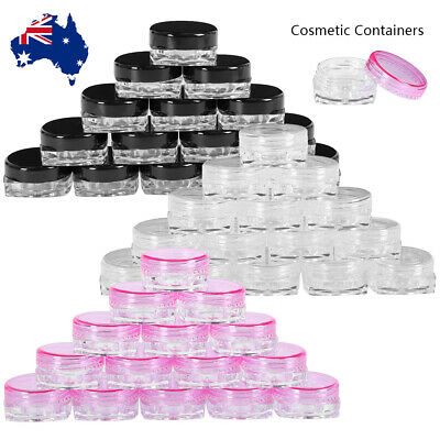 200X Plastic Travel Empty Cosmetic Containers Jars Sample Art Craft Storage Pots