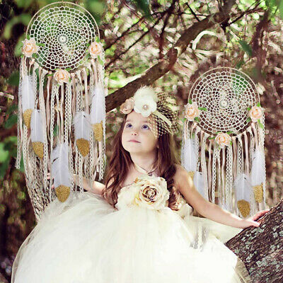 Handmade Large Boho Dream Catcher Girl's Gift Nursery Wall Hanging DreamCatcher