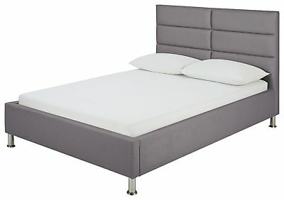 Hygena Bounty Charcoal Bed Frame - Small Double.