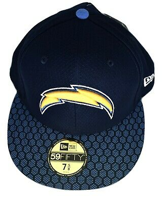 huge discount 42e1b 73570 New Era 59Fifty Mens NFL On-Field Los Angeles Chargers Fitted Hat Cap New 7