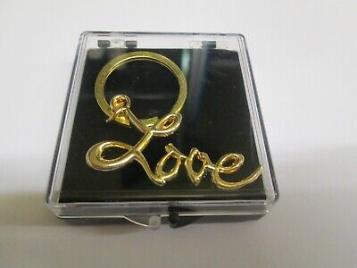 Sex and the City LOVE Key Ring Gold Plated Metal  in Presentation/ Gift Box