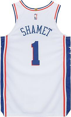 12826a9261c Landry Shamet Philadelphia 76ers Player-Issued  1 White Jersey - 2018-19  Season