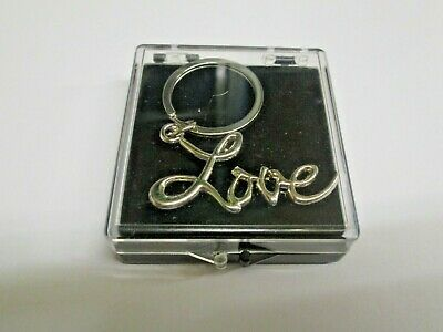 Sex and the City LOVE Key Ring Chrome Plated Metal  in Presentation/ Gift Box