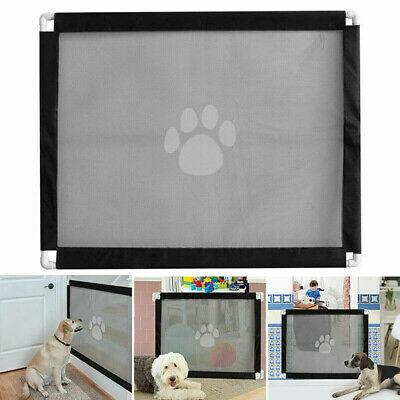 Retractable Dog Pet Gate Safety Guard Folding Baby Toddler Stair Isolation UK