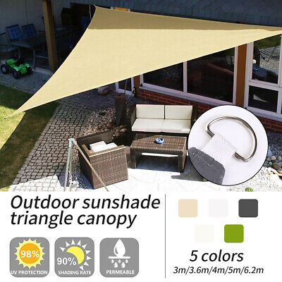 Triangle Sun Shade Sail Garden Patio Awning Canopy Sunscreen UV Block Waterproof