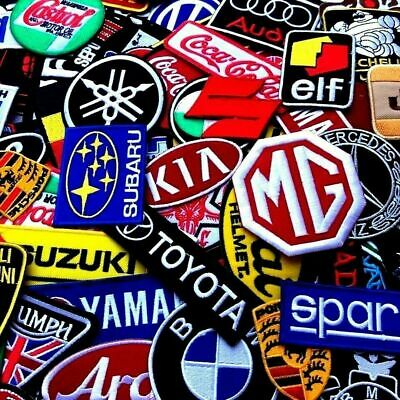 Patch Racing Car Motorcycle Embroidered Iron On Sew Logo 100 Designs Vintage