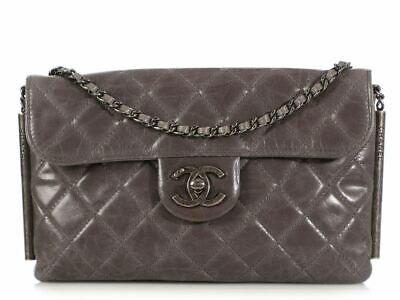 48e1d4a2005 CHANEL DIAMOND-QUILTED ANTIQUED Black Leather Carry On Trolley ...