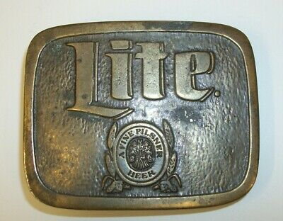 Vintage Wyoming Studio Art Works - Lite Beer - Belt Buckle