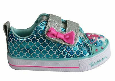 New Skechers Infant Girls Twinkle Toes Shuffle Lite Mermaid Parade Shoes