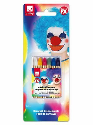NEW Smiffys Make-Up FX, Clown Carnival Face/Body Crayons - Face Paint  Makeup