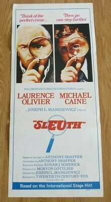 SLEUTH ORIGINAL 1972 CINEMA DAYBILL FILM POSTER Laurence Olivier Michael Caine