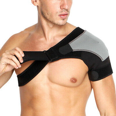 Men Right Shoulder Brace Rotator Cuff Pain Relief Support Adjustable Sleeve US