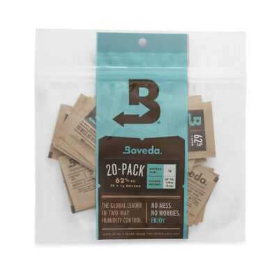 Boveda 1-Gram Humidity Pack (62% RH, 20-Pack)