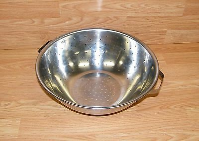 """Genuine Cooktime (CLD-88503) 13"""" Stainless Steel Colander With Handles READ"""