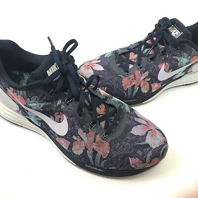 premium selection 5e2b3 0d3f8 Nike Lunarglide 6 Floral Women s Running Shoes 776259-401 Dynamic Support  10.5