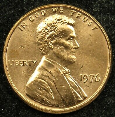 1976 Uncirculated Lincoln Memorial Cent Penny BU (B05)