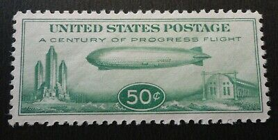 Scott #C18 Xf Mint Lh  1933 Chicago  Century Of Progress Zeppelin Airmail