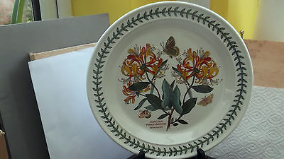 Portmeirion Botanic Garden Dinner Plate Showing Honeysuckle Factory Second