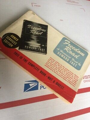 """WWII ARMED SERVICES EDITION """" Freedom Road"""" By H. FAST WW2 BOOK USGI"""