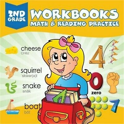 2nd Grade Workbooks: Math & Reading Practice (Paperback or Softback)