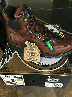 New in Box Georgia Boot Work Mens Eagle Light Load ST Soggy Dark Brown G6395 8 D