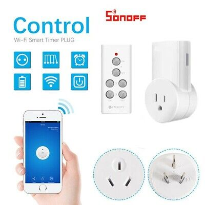Sonoff Smart Home WiFi APP Remote Power Socket AU Plug Timer Switch For Google