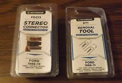 Ford Lincoln Mazda Nissan Stereo Wireing Do It Yourslf Connectors + Removal Tool