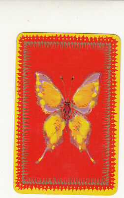 #212 1 vintage single playing swap card - Barribal Butterfly  RW