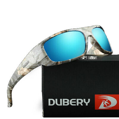 DUBERY Polarized Sunglasses Wrap Around Cycling Outdoor Sport Driving Mens UV400