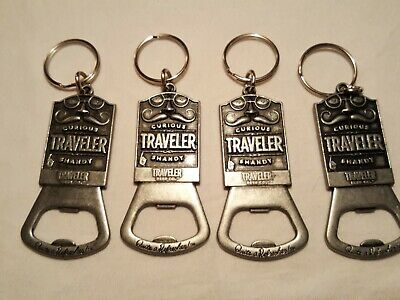 Traveler Beer Curious Traveler Shandy Lot of (4) Keychain Bottle Openers - New!