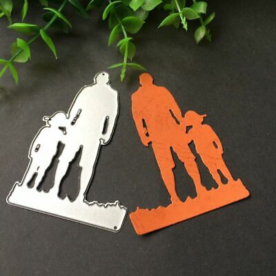 Father Son Cutting Dies Stencil DIY Scrapbooking Album Paper Card Embossing
