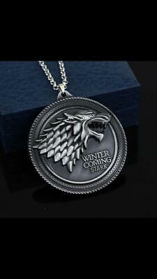Special Offer Movie Game of Thrones Fashion Wolf Head Badge Pendant Necklace for
