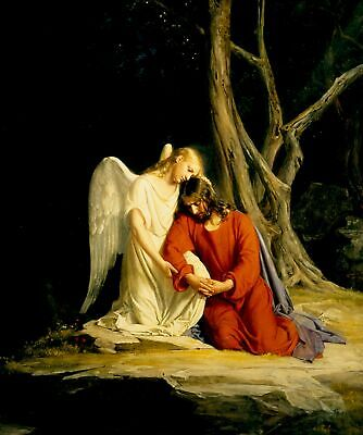 Handmade Oil Painting repro Carl Heinrich Bloch Christ at Gethsemane II