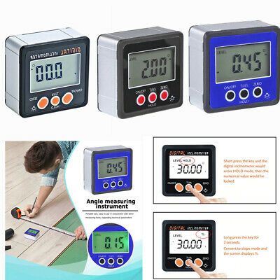 Digital Inclinometer Electronic Protractor Bevel Box Angle Gauge Measuring Tools